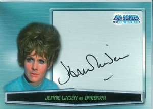 Doctor Who Big Screen -  A8 Jennie Linden as Barbara Trading Card -  10660